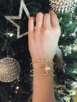 Pearl ×Gold Bangle